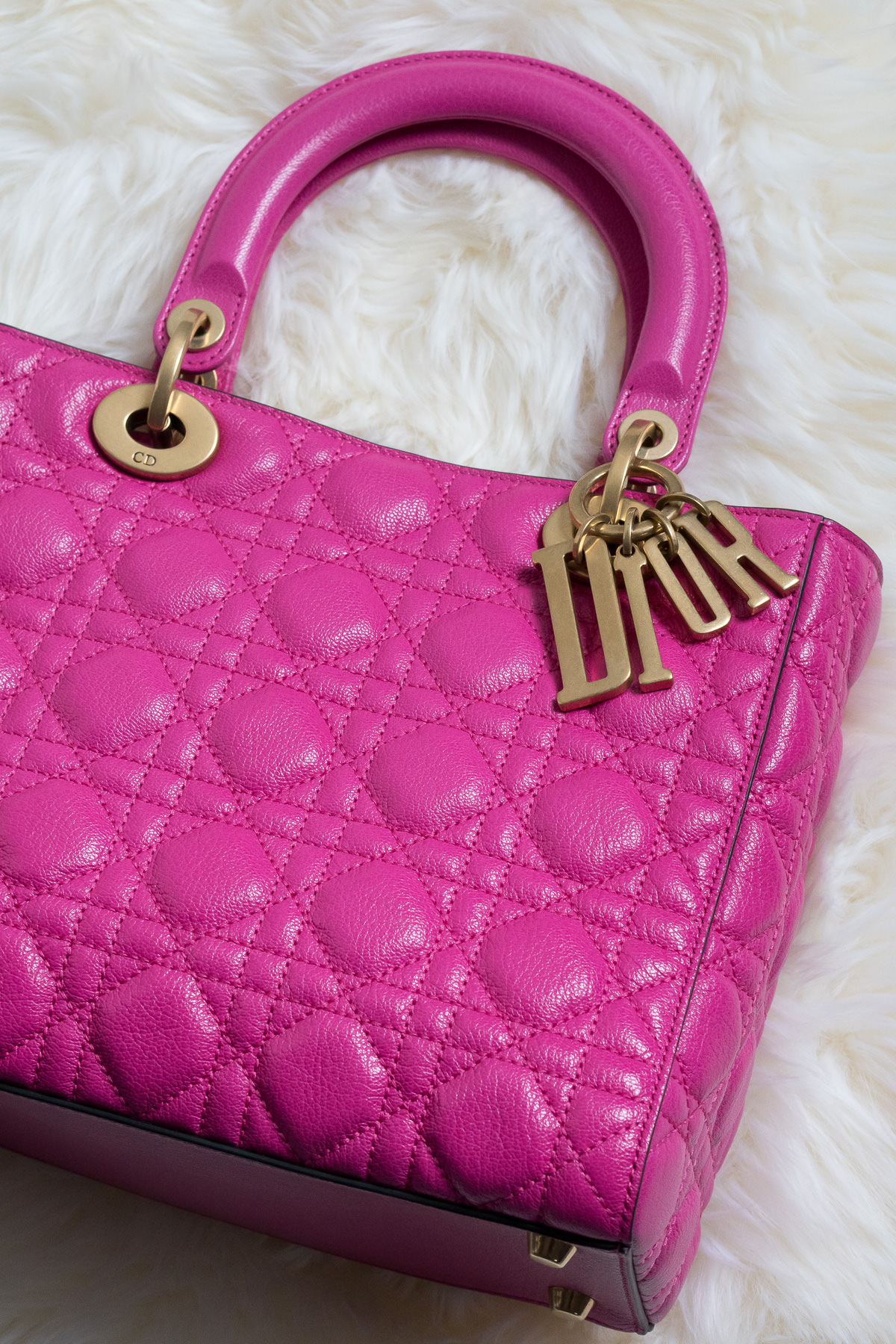abab23c195 Color Crushing on the Lady Dior Bag in Hot Pink