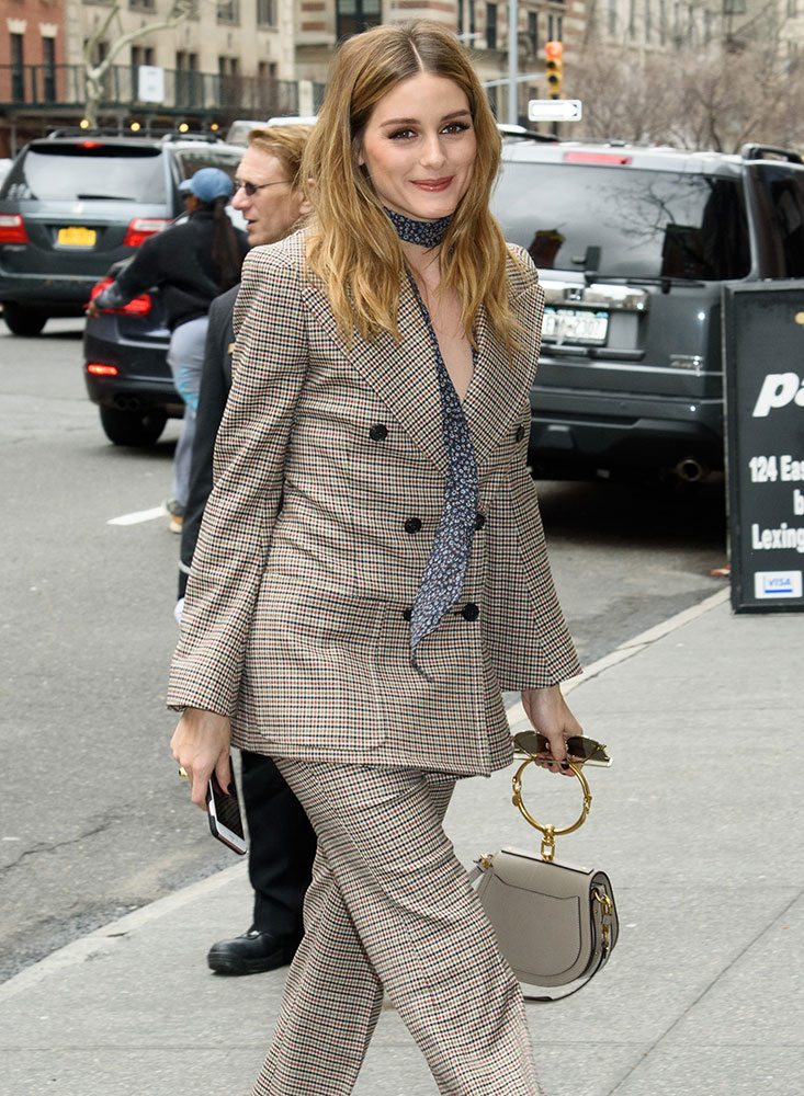 Here S Olivia Palermo Arriving At A Fragrance Foundation Luncheon In Nyc With Small Chloé Nile Bag Does Have Her Own You Ask