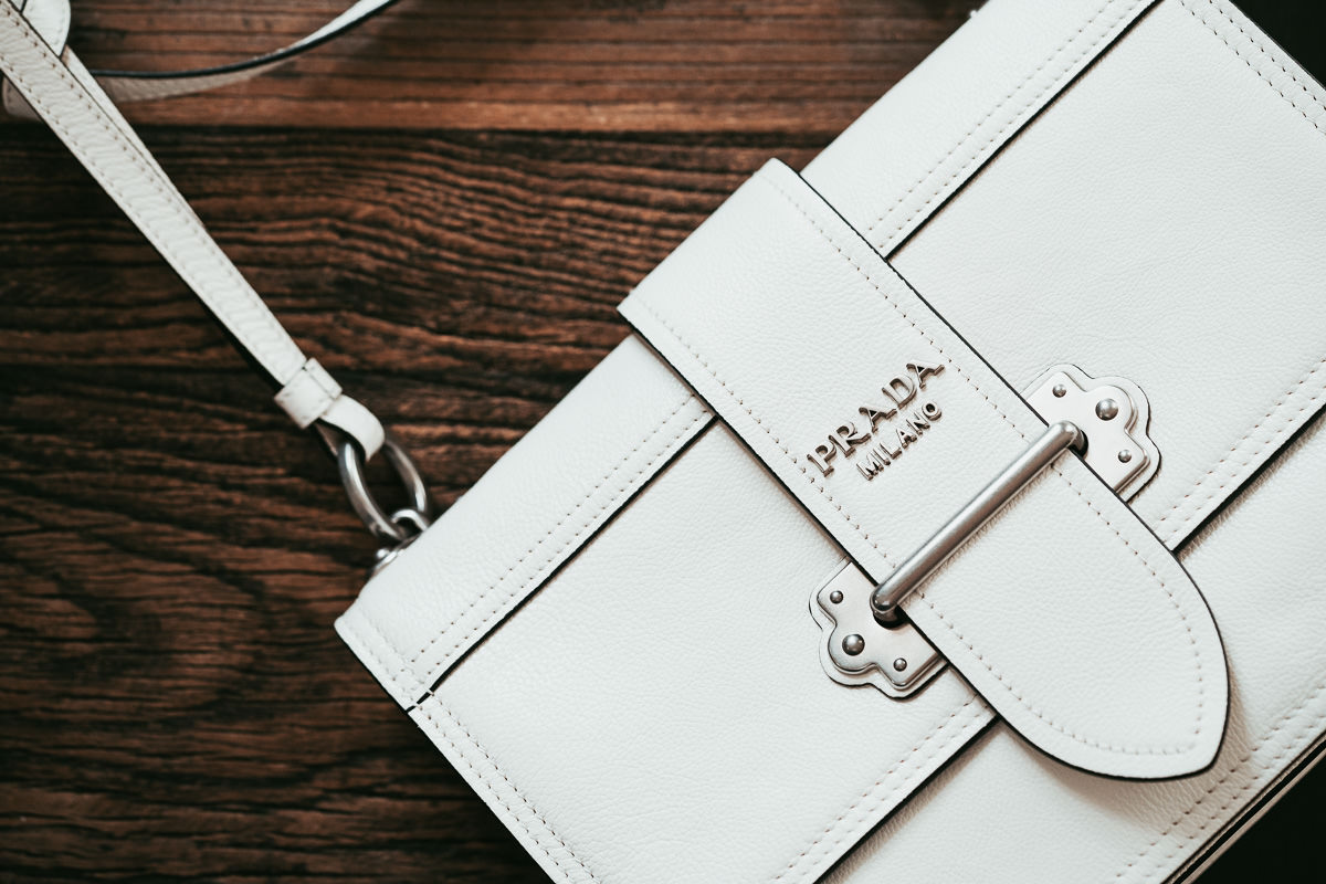 Prada Cahier Soft in White