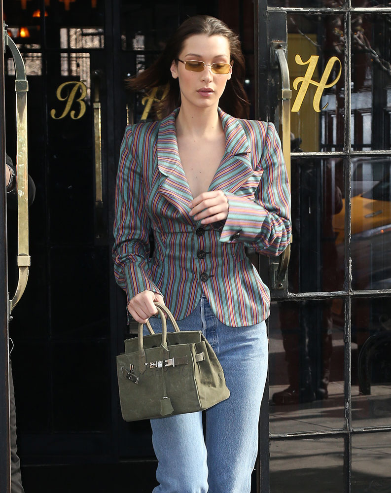 Why in the World Would Bella Hadid Carry a Bag That Looks Like?But is Not?an Hermès Birkin
