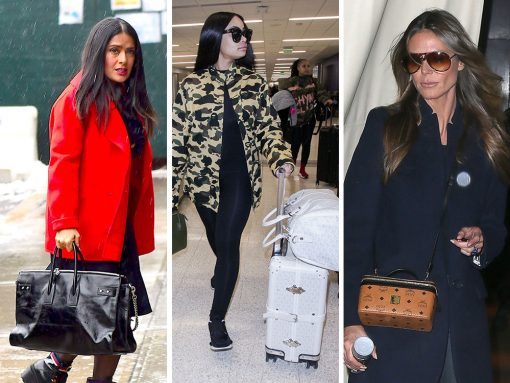 This Week, Celebs Addressed Their Travel Needs with a Variety of Bags from MCM, Goyard and Saint Laurent