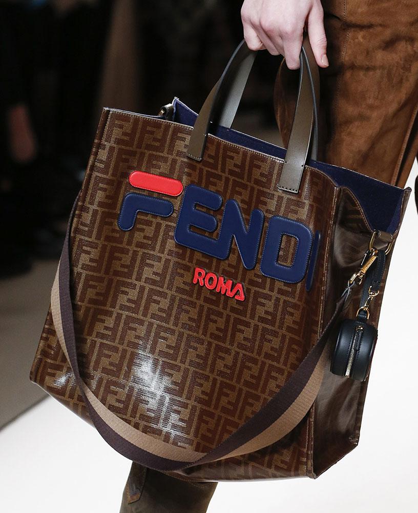 5c45de7aa5 It Was Logo-A-Gogo and Peekaboo Bags Galore on Fendi s Fall 2018 ...