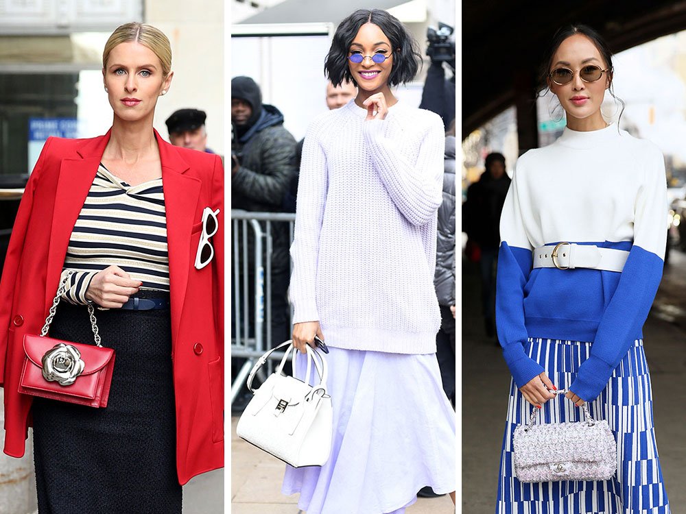 The Best Bags Of New York Fashion Week Fall 2018 S Celebrity Attendees Purseblog
