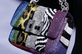 Tom Ford Goes All In on Animal Print and Rhinestones for His Fall 2018 Runway Bags