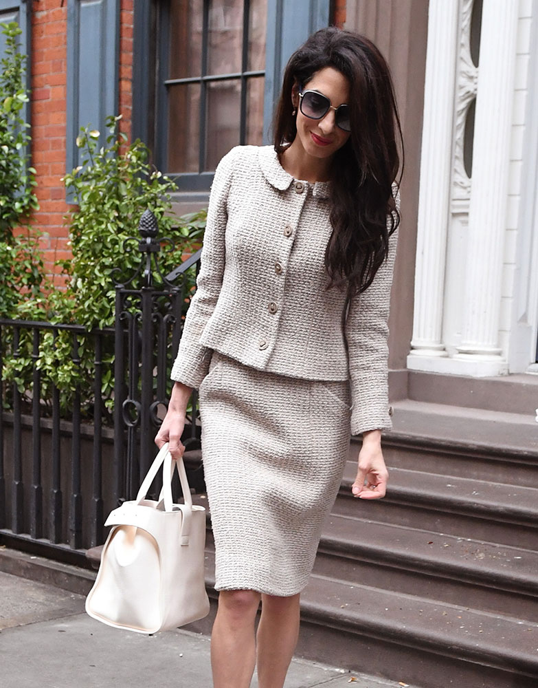 5a6363ee25 Take an Office Style Lesson from Amal Clooney and Her Handbags ...