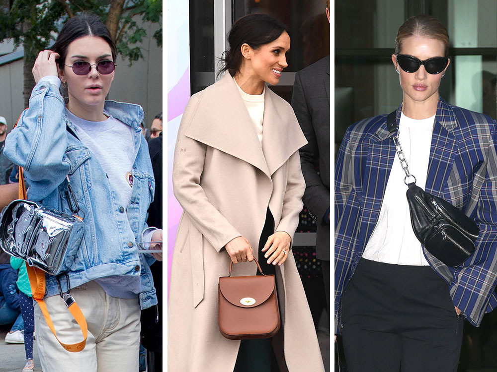 588716bd8abf Celebs Weather the Remainders of Winter with Black Bags from Prada ...