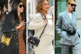 Celebs Choose Black and Gold (or Glittery) Bags from Prada, Versace and Valentino