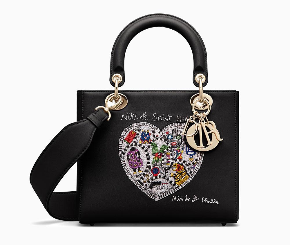 f4354875ce07 Dior-Lady-Dior-Bag-Niki-de-Saint-Phalle-Black-Heart - PurseBlog