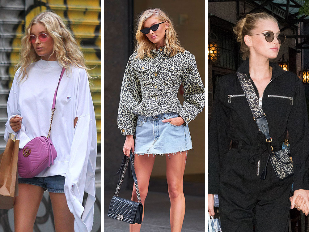 3ad2a58a34aa Elsa Hosk is a Supermodel with Great Bags