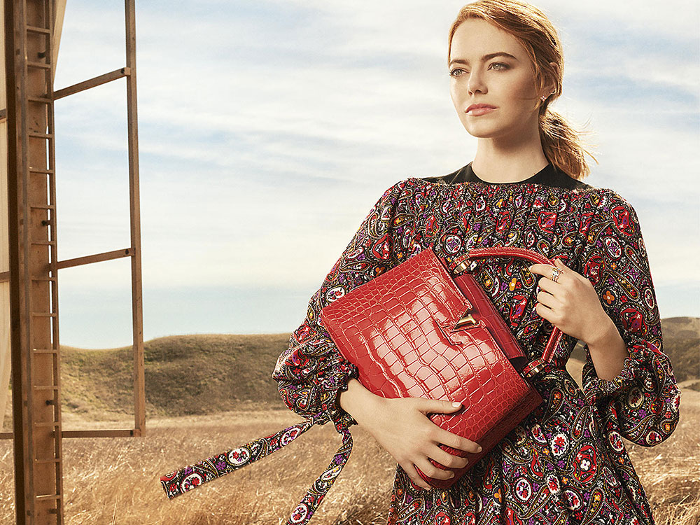 4ed65a5bea1 Emma Stone and the Capucines Bag are Louis Vuitton's New Campaign ...