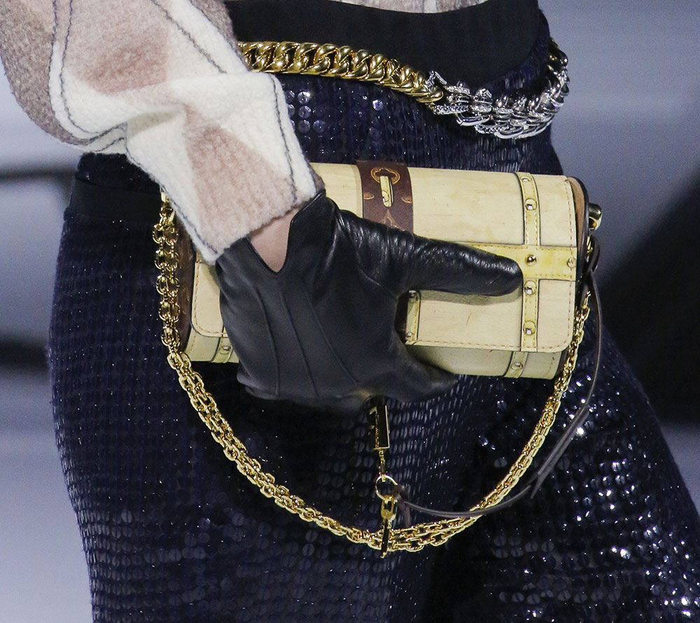louis vuitton steps far away from the brand u0026 39 s signatures for its fall 2018 runway bags