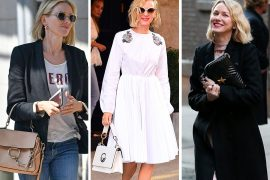 At Work and at Play, Naomi Watts Likes Her Designer Bags Compact and Neutral