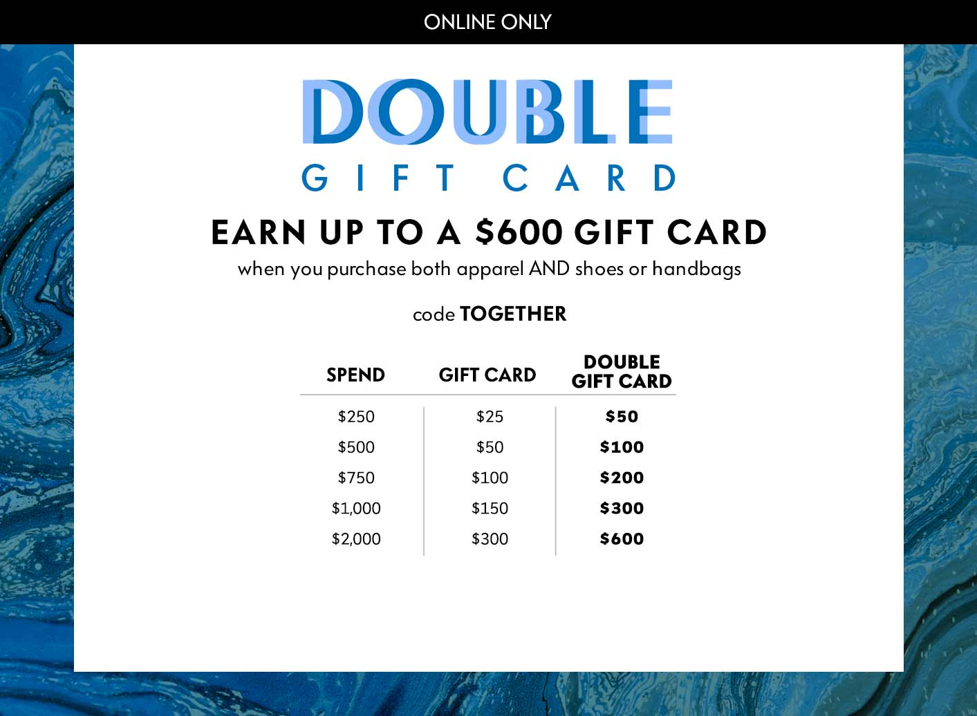 Neiman Marcus Double Gift Card