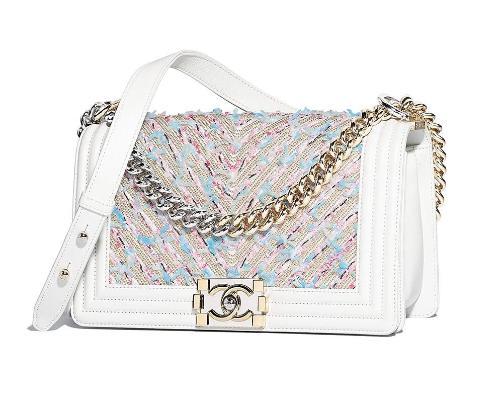 Chanel Boy Bag White 6400 Purseblog