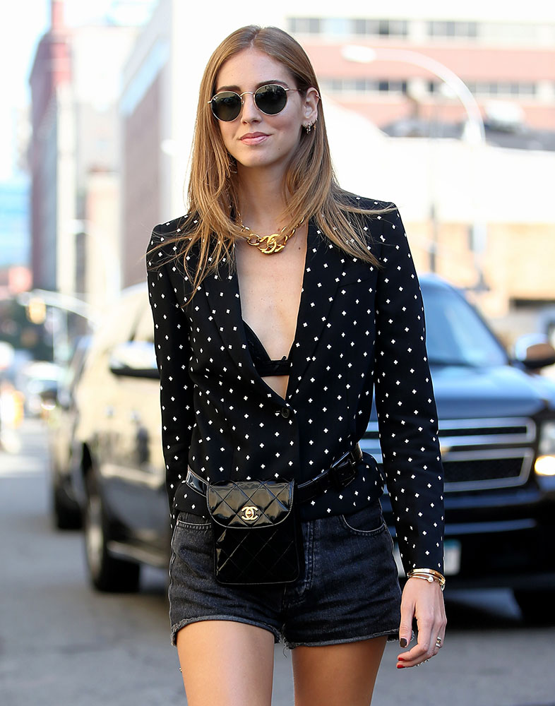 ebacee37af52 Chanel's many petite, vintage belt bags also proved popular across the  board, from fashion stars like Chiara Ferragni to paparazzi-baiters like  Kendall ...