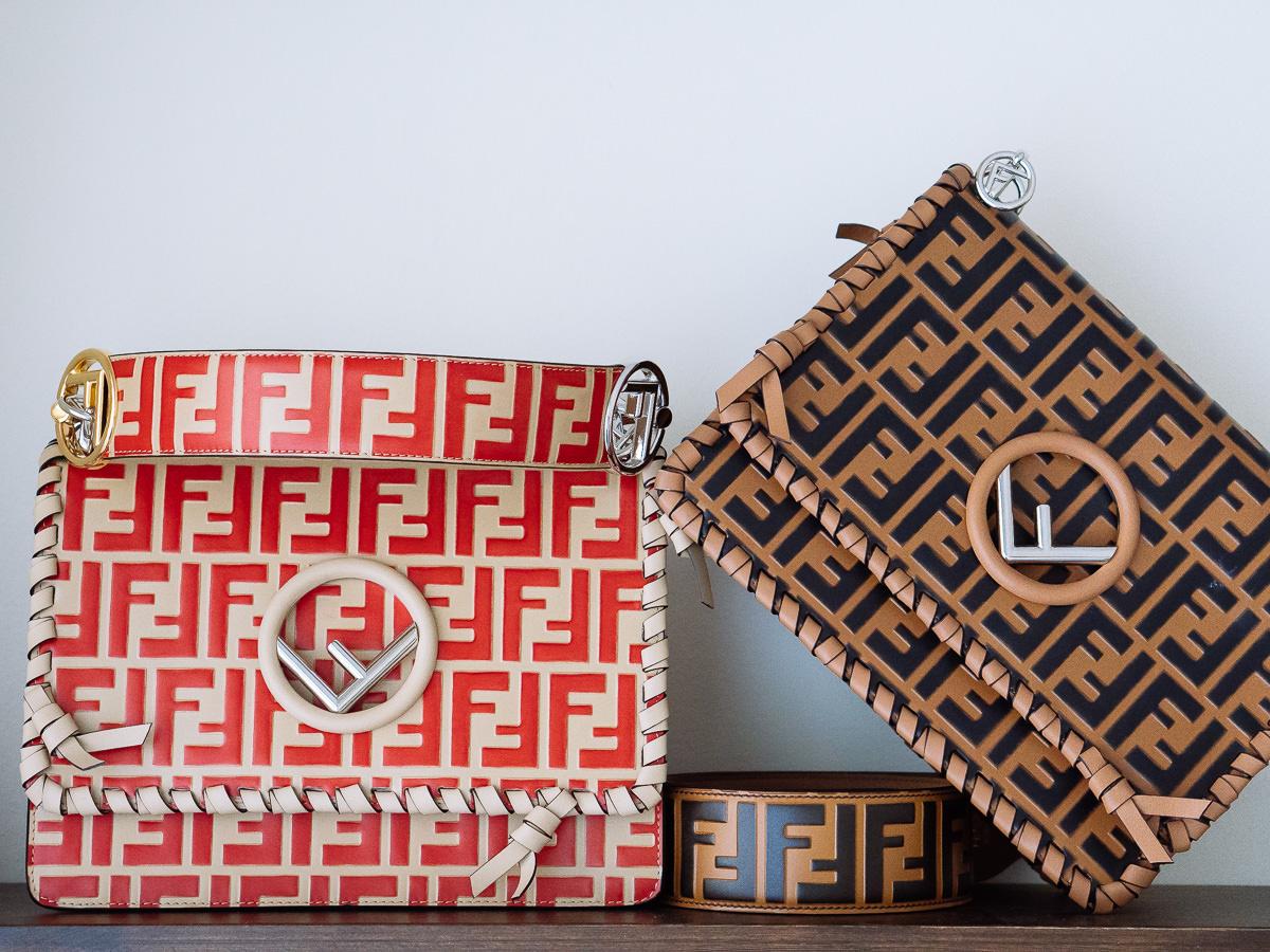 51b1371688 Logo Love  Fendi s Kan I F Bag Goes All-Over Logo for Spring 2018 ...