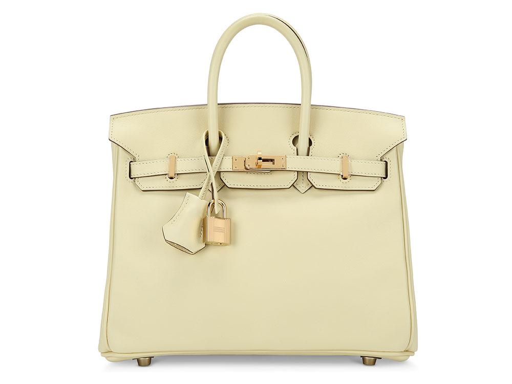 977f65463b99 Hermès, 2017 A Jaune Poussin Swift Leather Birkin 25 with Gold Hardware.  Estimate : USD 10,000 - 15,000.