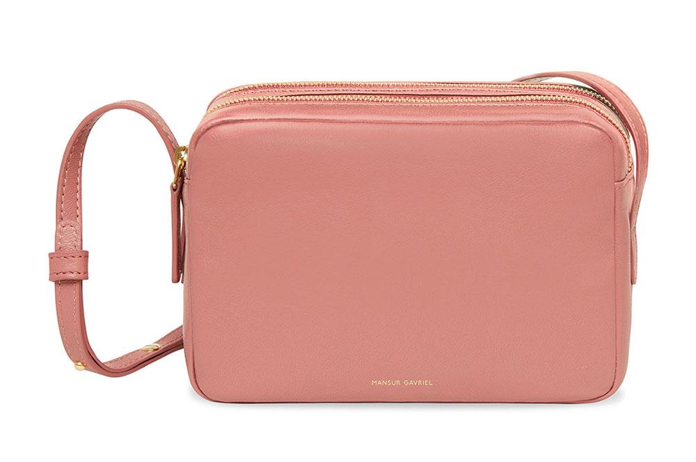 double zip crossbody bag - Pink & Purple Mansur Gavriel UWc7dpSN