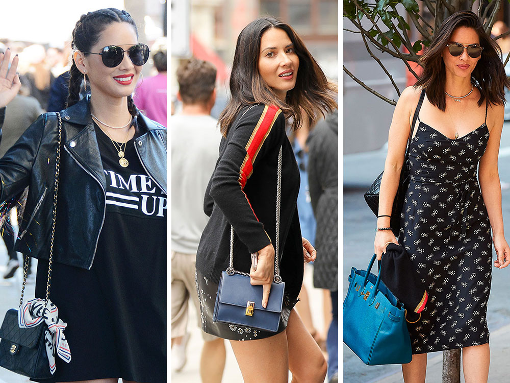 51b88d6ea4ac Let s Reconnect with Olivia Munn s Luxe Bag Collection