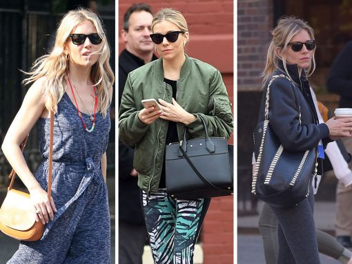 Take a Peek at Some Recent Picks from Sienna Miller's Colorful Designer Bag Collection