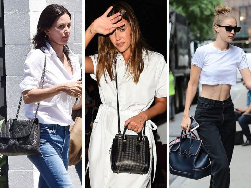 This Week, Celebs Chose Super-Simple Casual Outfits to Accompany Bags from Chanel, Fendi and Céline