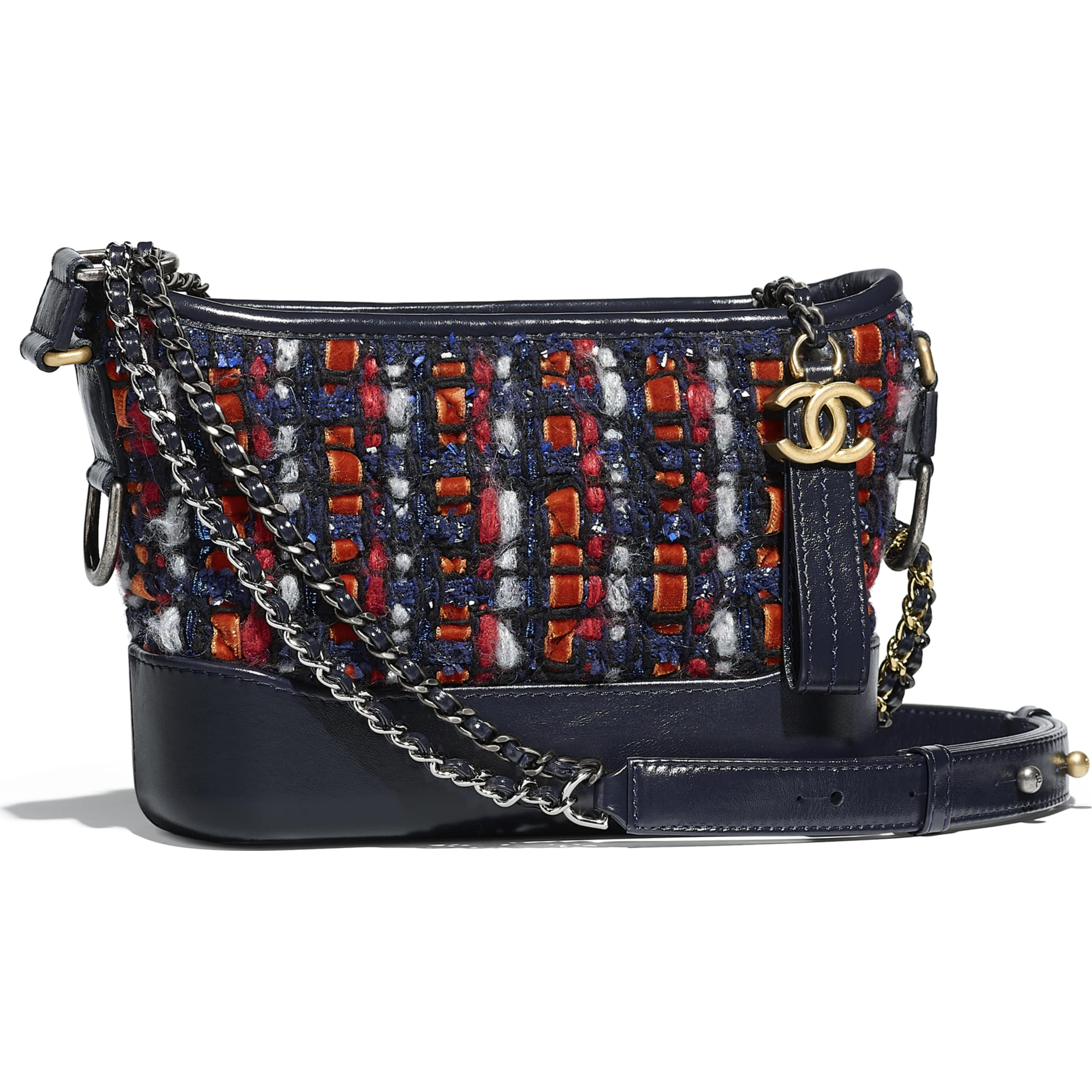 95f5f0f518 chanel-s-gabrielle-small-hobo-bag-navy-blue-orange-red-white-tweed ...