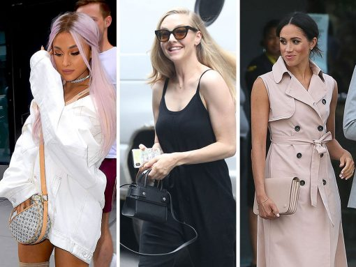 Celebs Are on the Press Trail with Givenchy, Kate Spade and Prada Bags