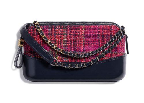 1a77811c2cbb Chanel-Gabrielle-Clutch-with-Chain-Pink-Tweed-2500 - PurseBlog