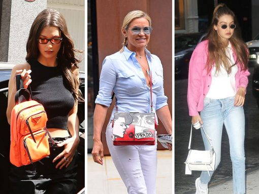 Just Can't Get Enough: The Hadid Women Love Their Prada Bags