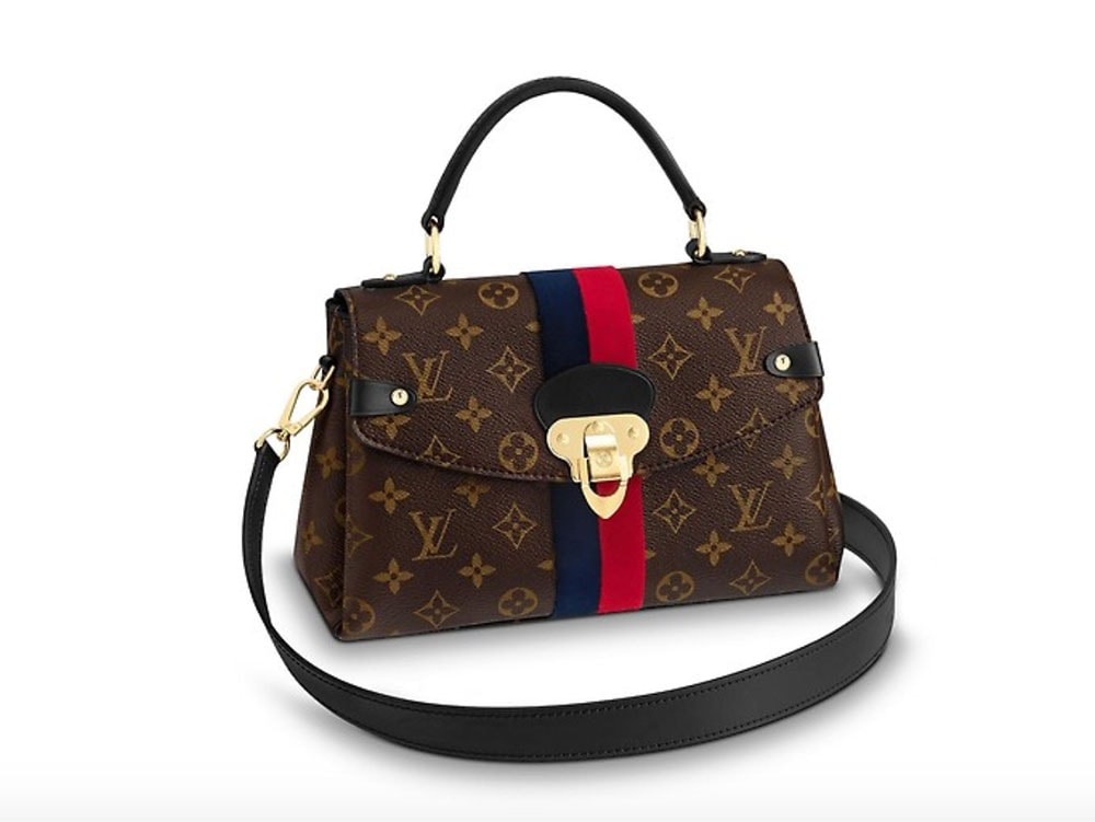 f04a60b37fc3 The First Louis Vuitton Fall 2018 Bags Have Arrived  Classic Shapes with  Crisp Stripes