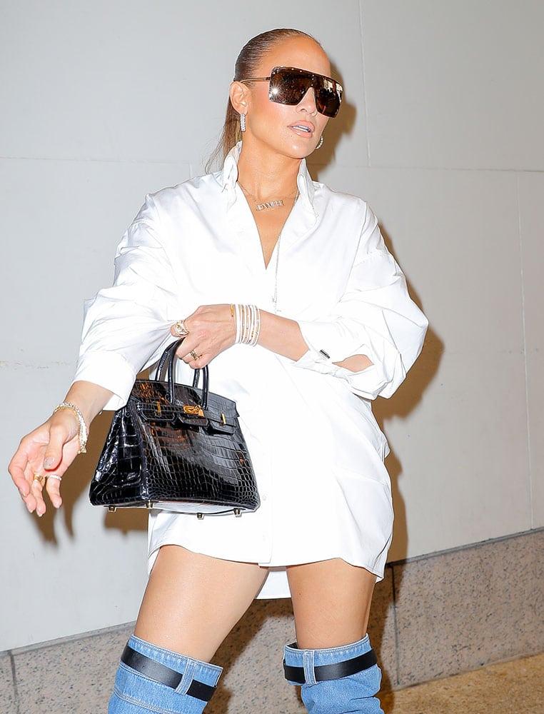 Jennifer Lopez Was All Over Nyc Last Week With Two Black Hermes Birkins Purseblog