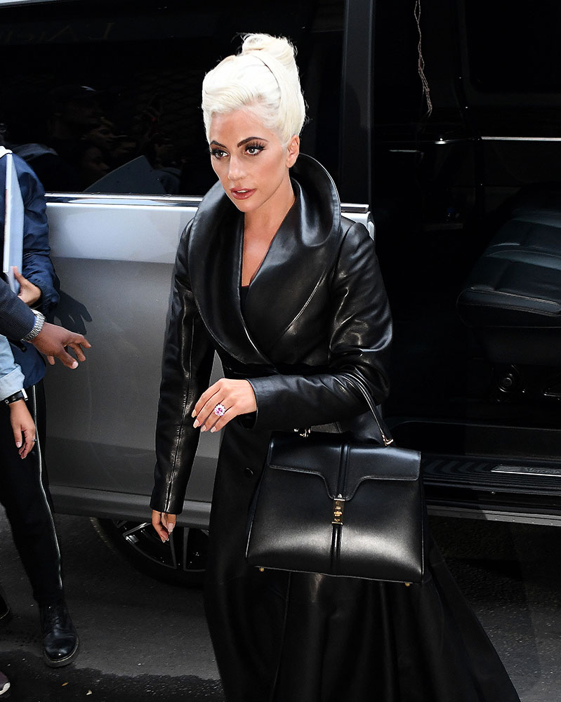 fdc08ea7b9 Hedi Slimane s First Céline Bag Debuts on the Arm of Lady Gaga ...
