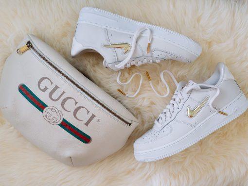 Perfect Pairs: Gucci Printed Belt Bag and Nike Air Force 1 Low Top Sneakers