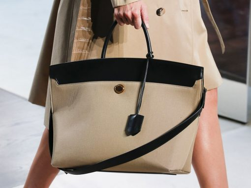 Former Givenchy Designer Riccardo Tisci Debuts His First Bags for Burberry on the Spring 2019 Runway