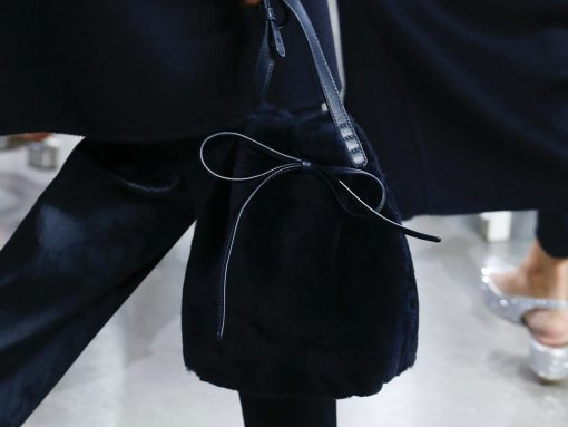 Mansur Gavriel Experiments with Fringe, Stripes, and Fur for Its Fall 2018 Runway Bags