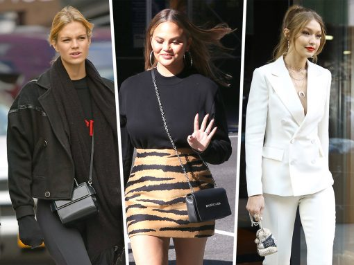 Celebs Model Gym Clothes, Givenchy and Judith Leiber Clutches