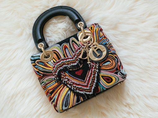 What Fits:  The Mini Lady Dior Bag