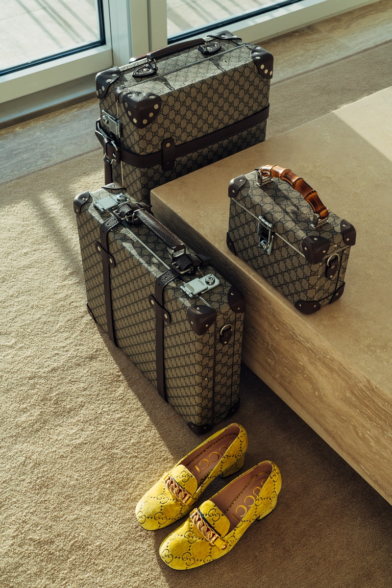 Gucci Collaborates with Globe-Trotter on Functional New Luggage Collection