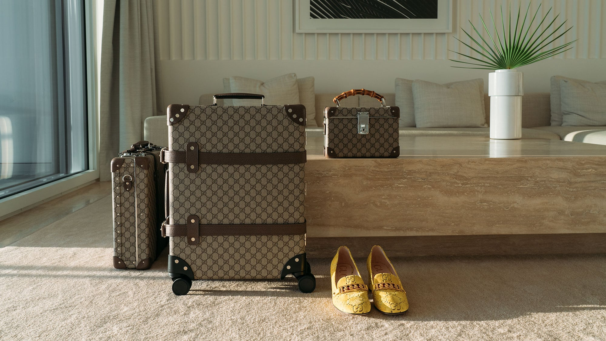 7a8b3e4dcd7 Gucci Collaborates with Globe-Trotter on Functional New Luggage Collection  - PurseBlog