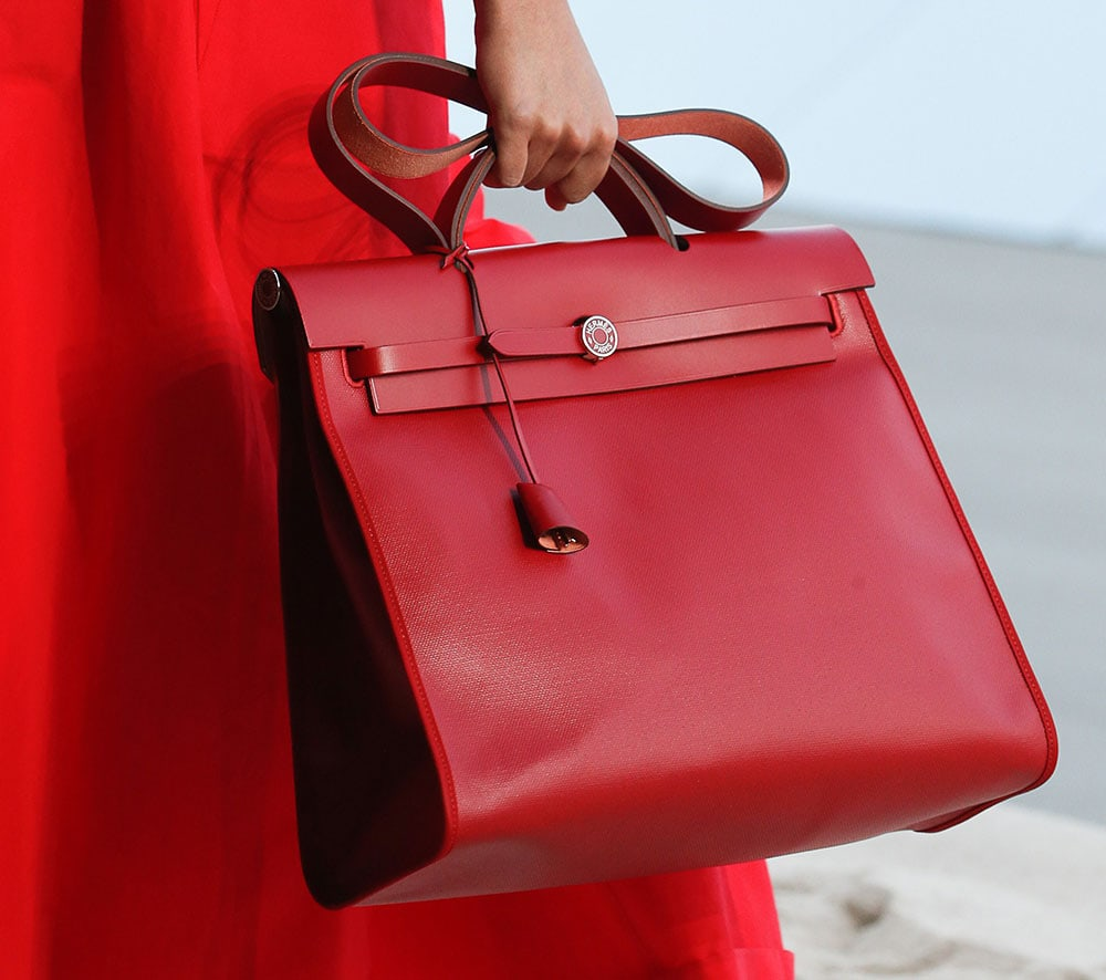 56f14936bc77 Hermès Explores Its Casual Side with Its Spring 2019 Runway Bags ...