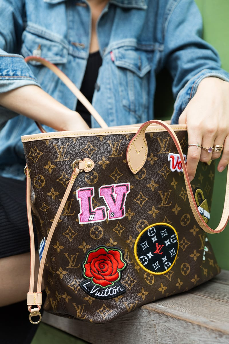 81c3ab625d8 A Day With the Louis Vuitton Patches Neverfull MM - PurseBlog
