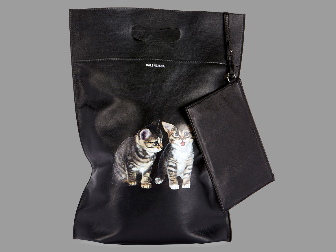 412b0d442e9f Would You Carry a  1300 Leather Plastic Bag With Kittens On It ...