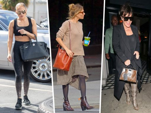 Celebs Visit Craig's Or Attend VS Fittings with Bags from Fendi, Dior and Mansur Gavriel