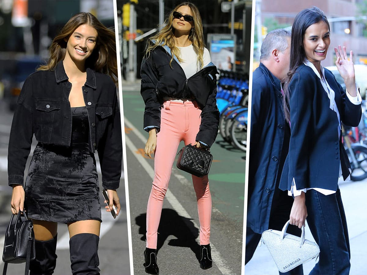 2846bfb14c4 Victoria's Secret Models Head in for Their Fittings Armed with Giuseppe  Zanotti, Balenciaga and Balmain