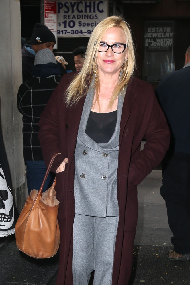e3cb2e5c8242 Patricia Arquette is currently making the press rounds with this neutral  brown leather Céline Big Bucket Bag. She's promoting her new Showtime  limited ...