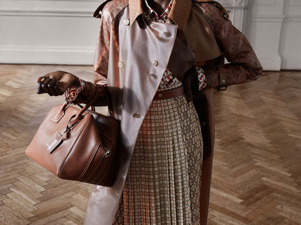 Burberry S Pre Fall 2019 Bags Feature A Whole Lot Of Logo