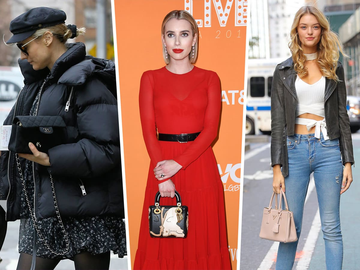 fa195a0a9f82aa Celebs Keep Warm During Pre-Fall While Carrying Bags from Prada and Versace