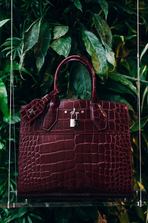 d563df35d Louis Vuitton City Steamer MM Crocodile in Bordeaux - PurseBlog