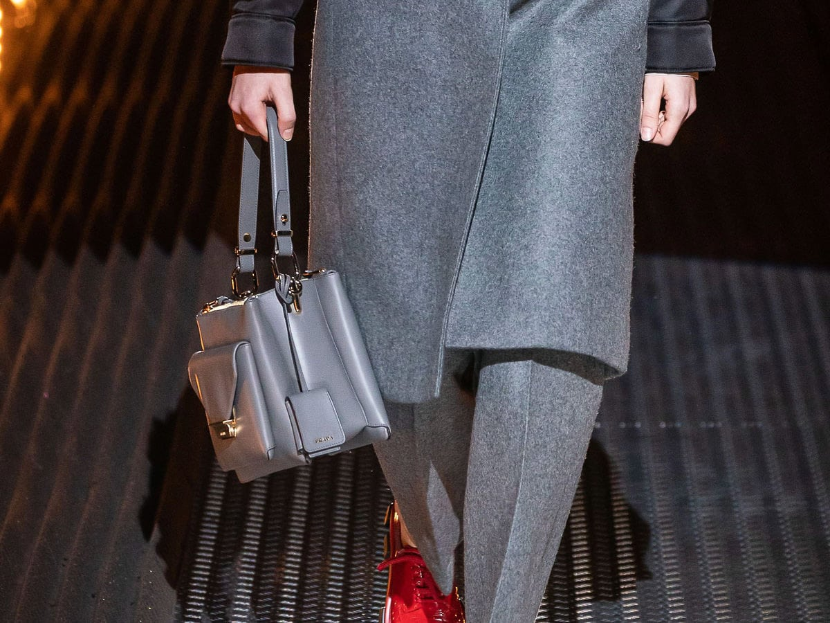 8ce58ed10 Prada Embraces Top Handles With Its Fall 2019 Runway Bags - PurseBlog