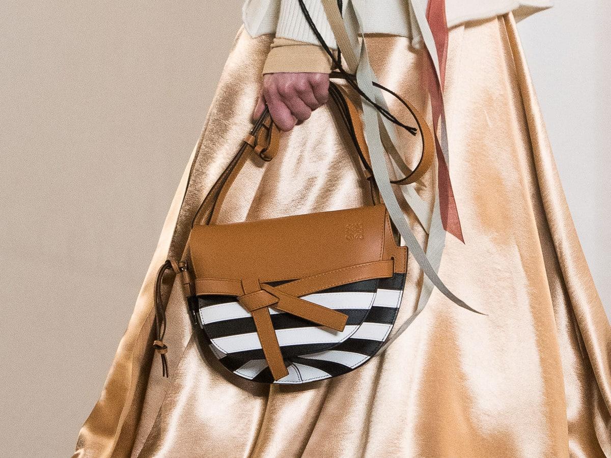 0bb16469fe89 A Close Up Look At Loewe's Fall 2019 Runway Bags - PurseBlog